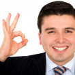 Business man doing the ok sign - Stock Photo