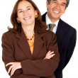 Elegant business partners smiling — Stock Photo #7754693