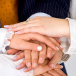 Stock Photo: Business teamwork hands