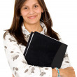 Business woman with a folder — Stock Photo