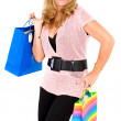 Fashion girl with shopping bags — Stock Photo