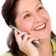 Happy business woman on the phone — Stock Photo #7754793