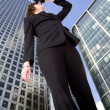 Business vision - woman in corporate environment — Stock Photo