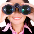 Business search - woman - Stock Photo