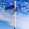Royalty-Free Stock Photo: Street sign with countries