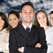 Confident business man and his business team — Stock Photo #7754819