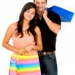 Couple with shopping bags - Lizenzfreies Foto