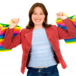 Happy girl with shopping bags — Stock Photo #7754867