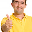 Casual guy with thumbs up — Stock Photo #7754880