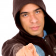 Angry man pointing at you - Stock Photo