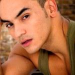 Casual male model portrait — Stock Photo