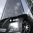 Car in a corporate environment — Stock Photo