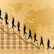 Business growth and success - financial graph — Stock Photo #7755006