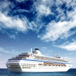 Cruise liner in open sea - Stock Photo