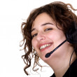 Customer service operator with a big smile — Stock Photo