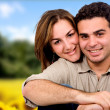 Beautiful couple outdoors — Stock Photo #7755058