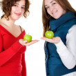 Stock Photo: Girls on healthy diet