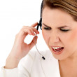 Angry customer support operator — Stock Photo #7755565