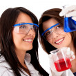 Female chemists — Stock Photo