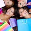 Stock Photo: Beautiful shopping women