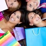 Beautiful shopping women — Stock Photo
