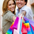 Shopping couple smiling — Stock Photo #7755593
