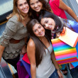Group of shopping women - Stock Photo