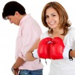 Couple's fight - Stock Photo