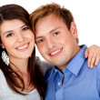 Happy couple smiling — Stock Photo #7755714