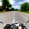 Motorcycle at high speed - Stockfoto