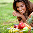 Woman with fruits — Stock Photo #7755837
