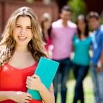 Female student smiling — Stock Photo #7755844