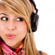 Woman with headphones — Stock Photo #7755868