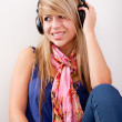 Woman with headphones — Stock Photo #7755870