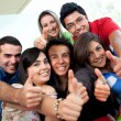 Students with thumbs up - Stockfoto