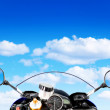 Motorcycle at the sky - Stock Photo