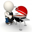 3D BBQ - Stock Photo