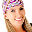 Woman with headscarf — Foto Stock