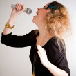 Woman singing — Stock Photo #7756164