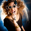 Woman singing — Stock Photo #7756177