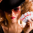Stylish poker player — Stock Photo #7756188