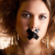 Royalty-Free Stock Photo: Silenced woman