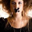 Silenced woman — Foto Stock