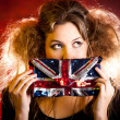 Stockfoto: Eccentric British woman