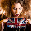 Eccentric British woman - Stock Photo