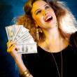 Rich woman - Stock Photo