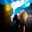 Girl with balloons — Stockfoto