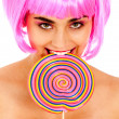 Stock Photo: Lollypop girl