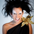 Greek goddess screaming — Stock Photo