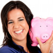 Woman's savings — Stockfoto